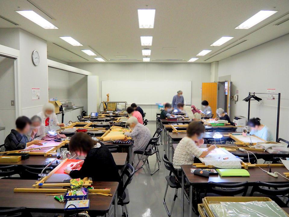 春の京繍教室